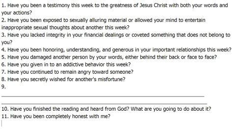 LTG Questions